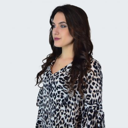 Bluza lejera cu imprimeu Animal Print