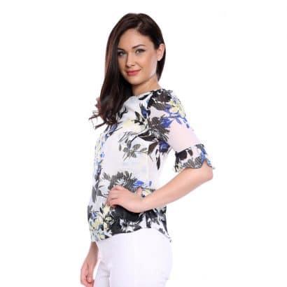 Bluza cu imprimeu floral Silk flower