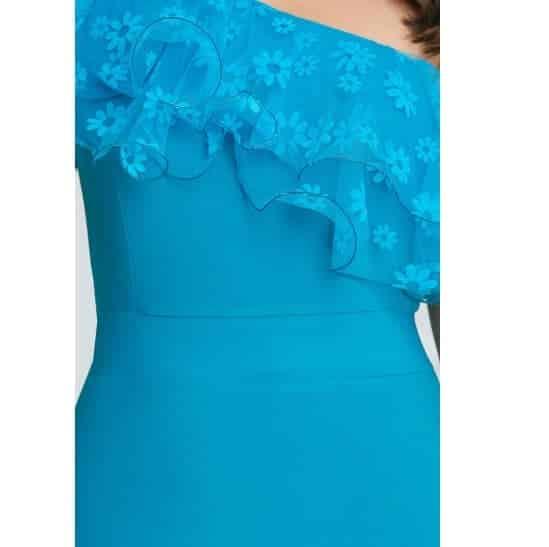Rochie albastra tip sirena Atena1
