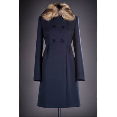 Palton elegant cu blana Loredana