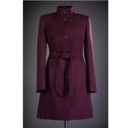Palton din stofa cu nasturi Karina - Grena